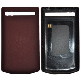 Picture of Porsche Design Leather Battery Door Cover for BlackBerry P'9983 (Pomegranate Burgundy)