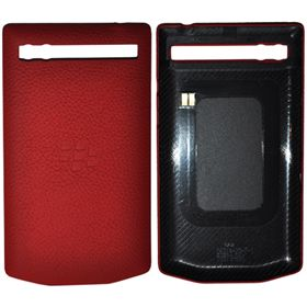 Picture of Porsche Design Leather Battery Door Cover for BlackBerry P'9983 (Salsa Red)
