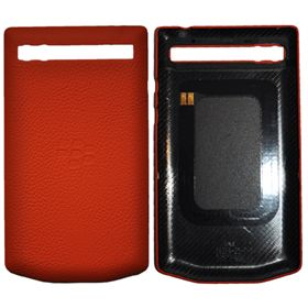 Picture of Porsche Design Leather Battery Door Cover for BlackBerry P'9983 (Brand Orange)