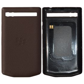 Picture of Porsche Design Leather Battery Door Cover for BlackBerry P'9983 (Dark Brown)