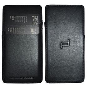 Picture of Porsche Design Plain Leather Debossed Icon Case for BlackBerry P'9982 (Black)