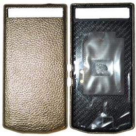 Picture of Porsche Design Leather Battery Door Cover for BlackBerry P'9982 (Grain Gold)