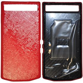 Picture of Porsche Design Leather Battery Door Cover for BlackBerry P'9982 (Safiano Red)
