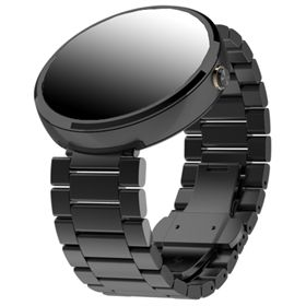 Picture of Motorola Moto 360 4GB Stainless Steel Metal Band Smart Watch (Dark Chrome)