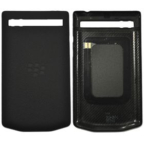 Picture of Porsche Design Leather Battery Door Cover for BlackBerry P'9983 (Black)