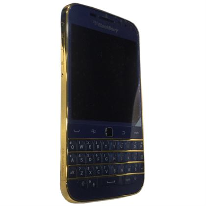 Picture of BlackBerry Classic 16GB 24K Gold Exclusive Customised Edition (Blue / Gold )