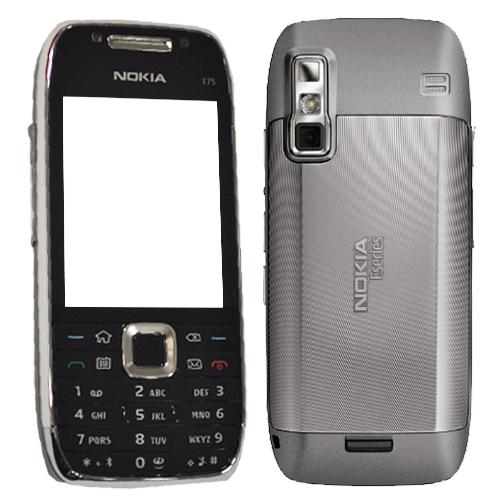 Nokia E75-1 QWERTY (Silver Black)