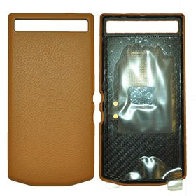 Picture of Porsche Design Premium Leather Battery Door Cover for BlackBerry P'9982 (Cognac)