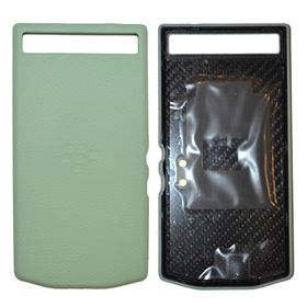 Picture of Porsche Design Premium Leather Battery Door Cover for BlackBerry P'9982 (Aqua Grain)
