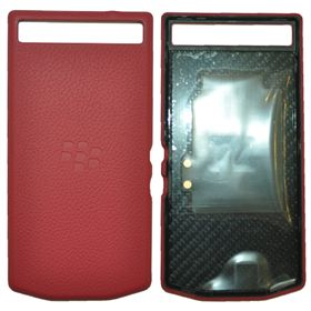 Picture of Porsche Design Premium Leather Battery Door Cover for BlackBerry P'9982 (Red)