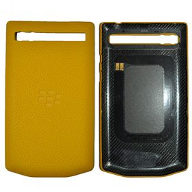 Picture of Porsche Design Leather Battery Door Cover for BlackBerry P'9983 (Lime Yellow)
