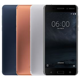 Picture of Nokia 6 32GB (Matte Black, Tempered Blue, Silver, Copper)