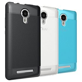 Picture of NUU Mobile Protective Lite Case for NUU Mobile A3L (Black | Clear | Teal Blue)