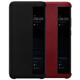 Picture of Porsche Design Huawei Mate RS Flip Cover Leather [ Black | Red ]