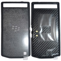 Picture of Porsche Design Premium Leather Battery Door Cover for BlackBerry P'9982 (Black)