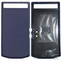 Picture of Porsche Design Premium Leather Battery Door Cover for BlackBerry P'9982 (Blue)