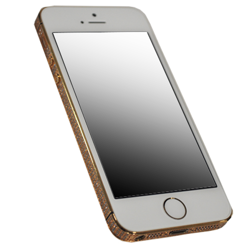 Picture of Apple iPhone 5s 64GB in 24ct Gold with Swarovski Elements (Gold/White)