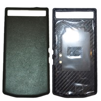 Picture of Porsche Design Premium Leather Battery Door Cover for BlackBerry P'9982 (Nappa Black)