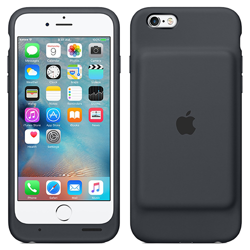 best value 0443b 50fec Apple iPhone 6 / 6s Smart Battery Case (Charcoal Grey)