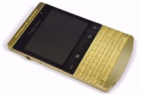 Picture of BlackBerry Porsche Design P'9981 8GB English QWERTY + Arabic Keypad (24K Gold Emperor Limited Edition) with VIP PINs